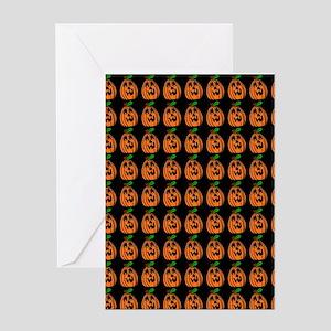 pumpkin pattern Greeting Cards