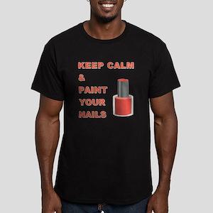 KEEP CALM... Men's Fitted T-Shirt (dark)