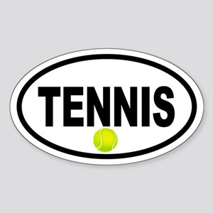 Tennis Ball Oval Sticker