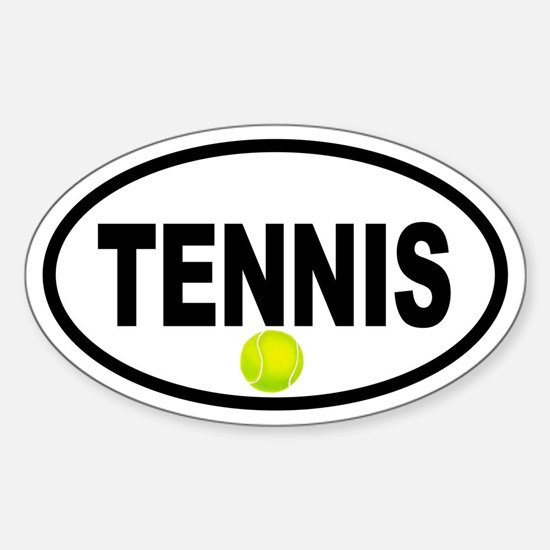 Tennis Ball Oval Decal