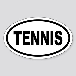 Basic Tennis Oval Sticker