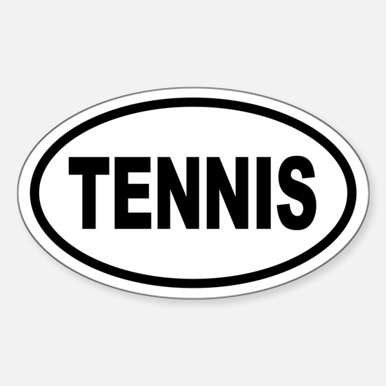 Basic Tennis Oval Decal
