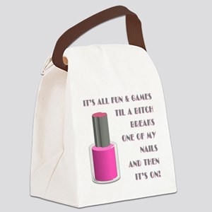 ITS ALL FUN GAMES.... Canvas Lunch Bag