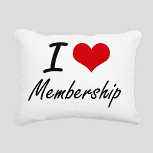 I Love Membership Rectangular Canvas Pillow