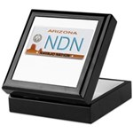 Navajo Nation NDN plate Keepsake Box