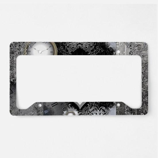 Steampunk, wonderful heart License Plate Holder