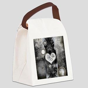 Steampunk, wonderful heart Canvas Lunch Bag