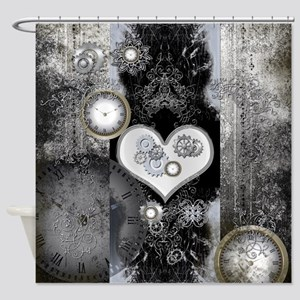 Steampunk, wonderful heart Shower Curtain
