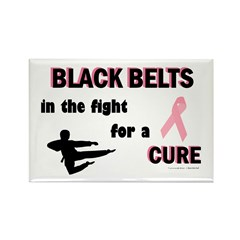 Black Belts (Fight For A Cure) Rectangle Magnet (1