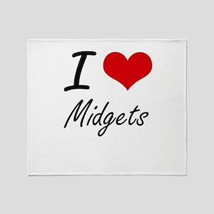 I Love Midgets Throw Blanket