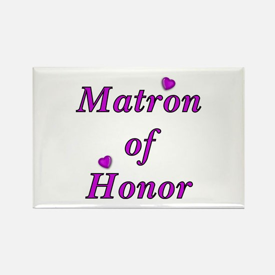 Matron of Honor Simply Love Rectangle Magnet
