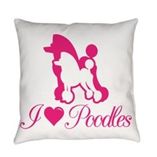 Pink Poodles Everyday Pillow