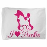 Pink Poodles Pillow Sham