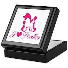 Pink Poodles Keepsake Box