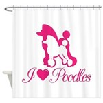 Pink Poodles Shower Curtain