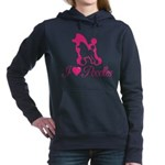 Pink Poodles Women's Hooded Sweatshirt