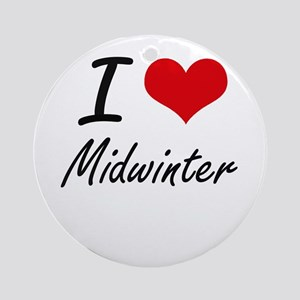 I Love Midwinter Round Ornament