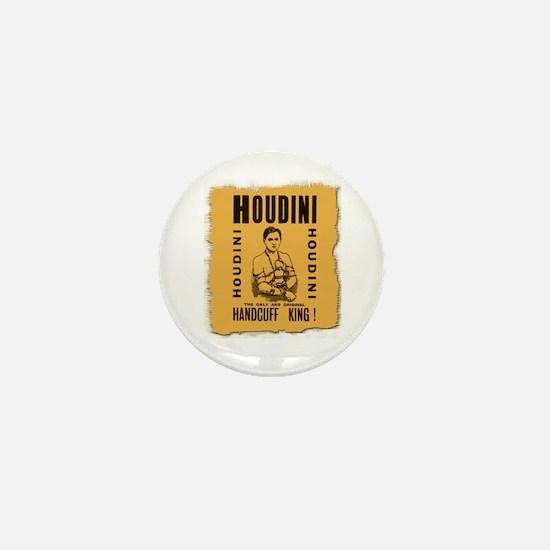 Houdini Handcuff King Mini Button