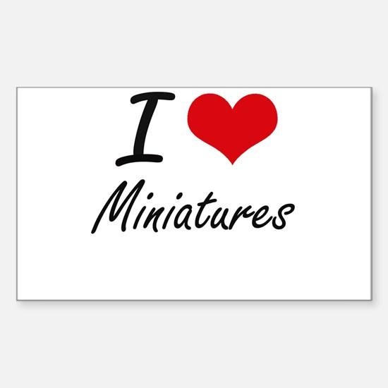 I Love Miniatures Decal