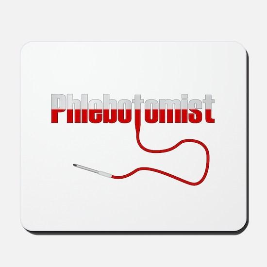 Phlebotomist with Needle Logo Mousepad