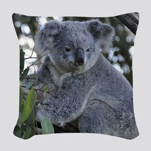 KOALA Woven Throw Pillow