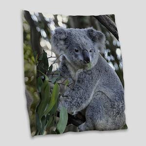 KOALA Burlap Throw Pillow