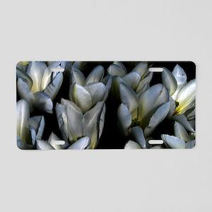 Gothic Tulips Aluminum License Plate