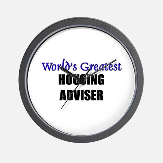 Worlds Greatest HOUSING ADVISER Wall Clock