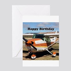 Happy Birthday: High wing Aircraft Greeting Cards