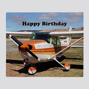Happy Birthday: High wing Aircraft Throw Blanket