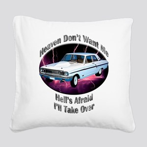 Ford Thunderbolt Square Canvas Pillow