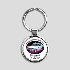 Ford Thunderbolt Round Keychain