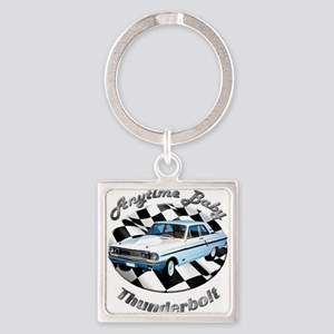 Ford Thunderbolt Square Keychain