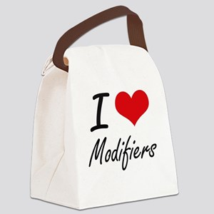I Love Modifiers Canvas Lunch Bag