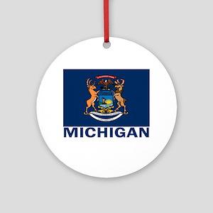 Michigan Ornament (Round)