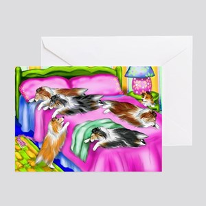 Sheltie Pink Comfort Greeting Cards (Pk of 10)