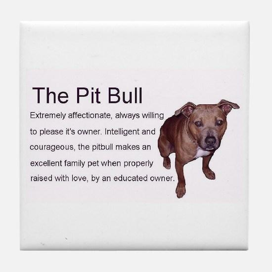 Loving Pitbull Tile Coaster