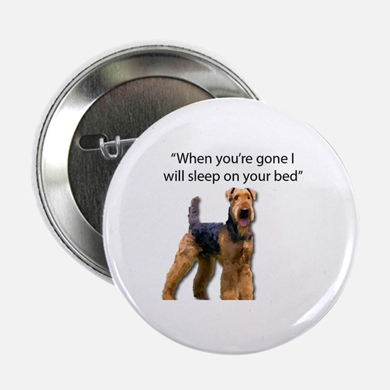 """Cool Airedale terrier 2.25"""" Button"""