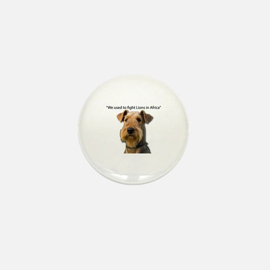 Funny Airedale terrier Mini Button