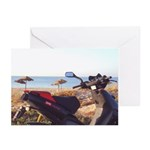 Beach Moped Greeting Cards (Pk of 10)