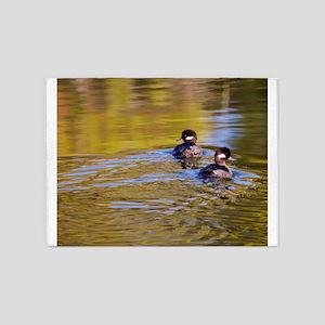 Bufflehead swimming 5'x7'Area Rug