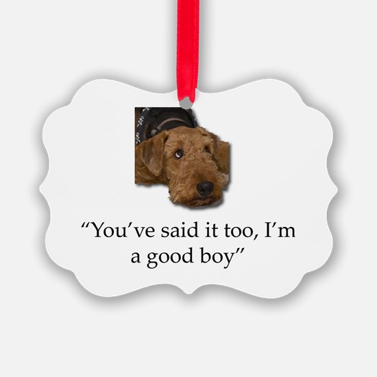 Cute Airedale terrier Ornament