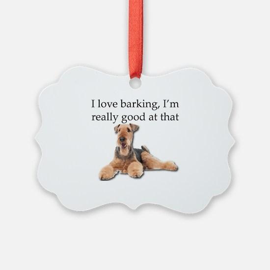 Unique Airedale terrier Ornament