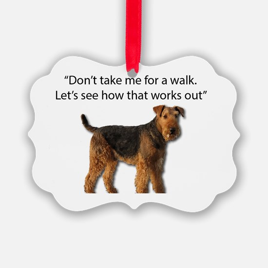 Cool Airedale terrier Ornament