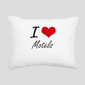 I Love Motels Rectangular Canvas Pillow