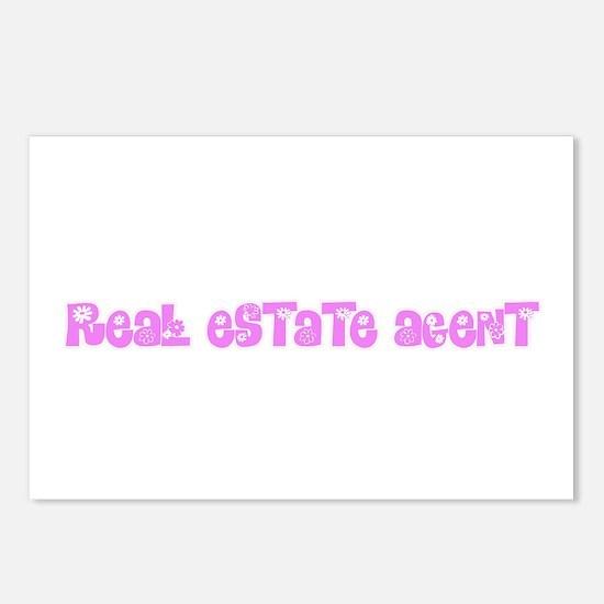 Real Estate Agent Pink Fl Postcards (Package of 8)