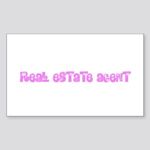 Real Estate Agent Pink Flower Design Sticker