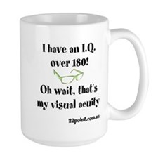 Iq Over 180 Large Mug Mugs
