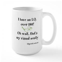 Iq Over 180 Large Mug Mugs