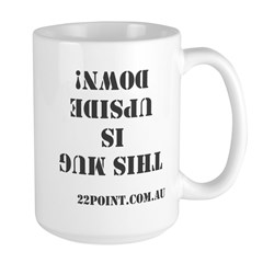 This Mug Is Upside Down Large Mugs